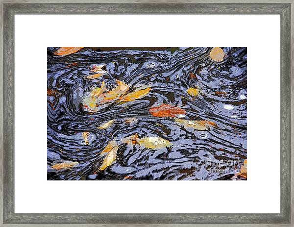 Water Over The Dam Framed Print