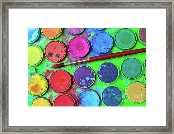 Watercolor Palette Framed Print