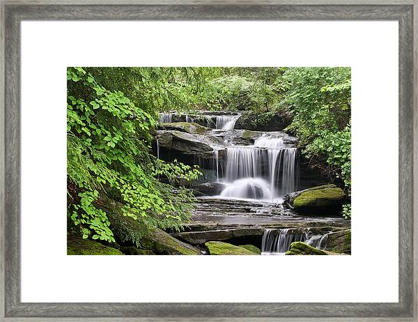 Waterfall Near Mabbitt Spring Framed Print