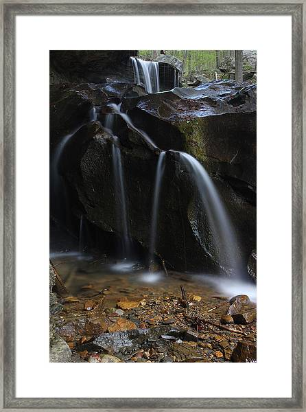 Waterfall On Emory Gap Branch Framed Print