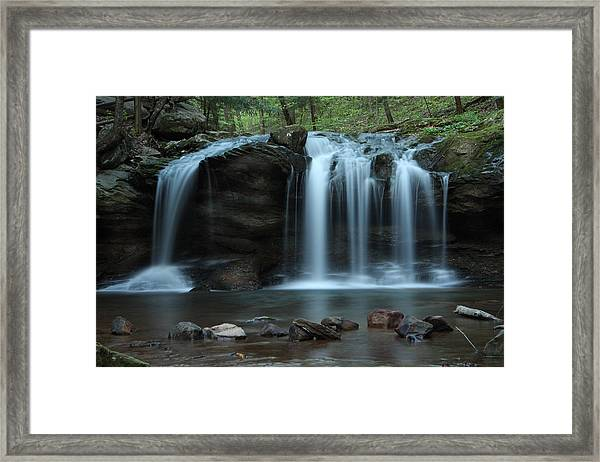 Waterfall On Flat Fork Framed Print