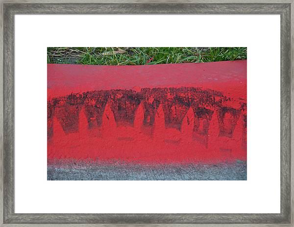 Watermelon Curb Framed Print