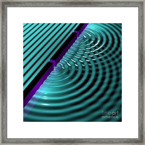 Waves Two Slit 3 Framed Print