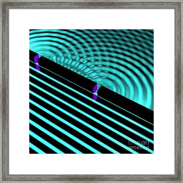 Waves Two Slit 4 Framed Print