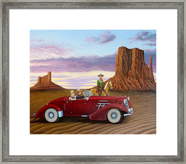 Way Out West Framed Print