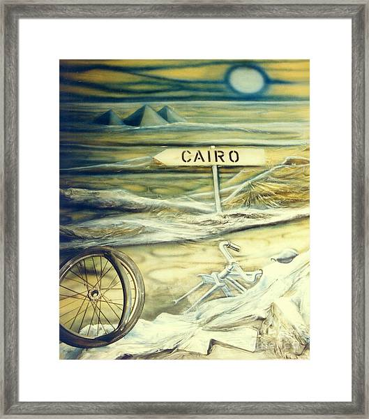 Way To Cairo Framed Print