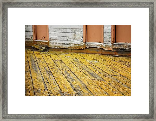 Weathered Monterey Building Framed Print