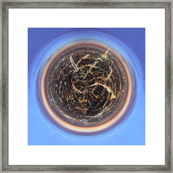 Wee Paris Twilight Planet Framed Print