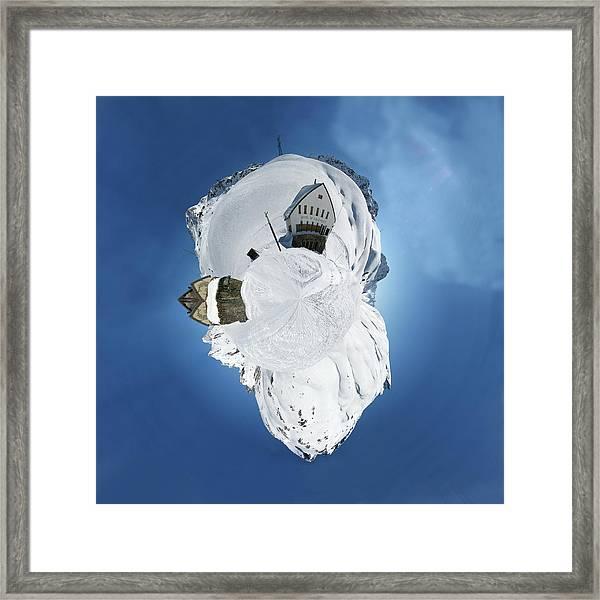 Wee Winter Hotel Framed Print