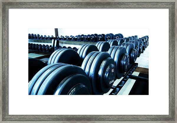 Weights Horizontal Framed Print