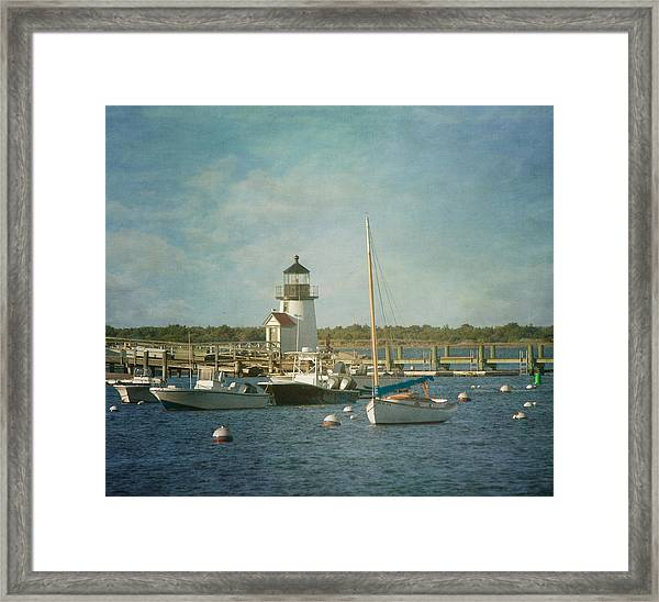 Welcome To Nantucket Framed Print