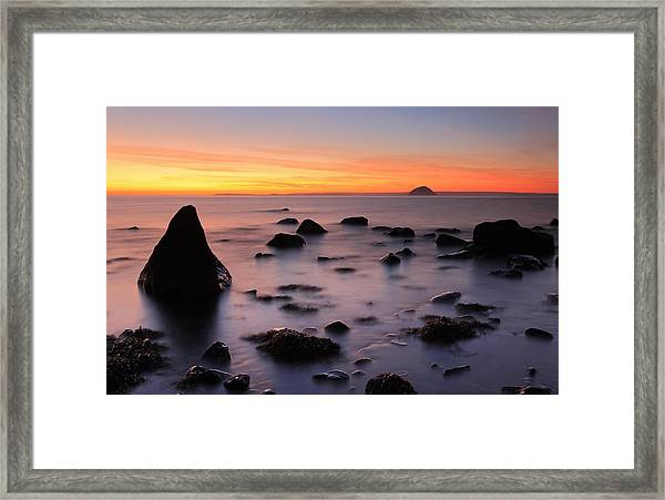 West Coast Sunset Framed Print