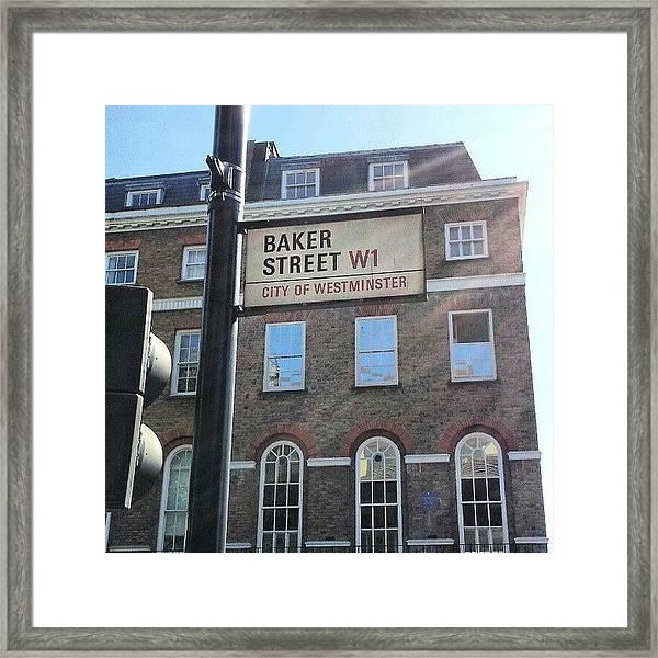 #westminster #bakerstreet #baker Framed Print