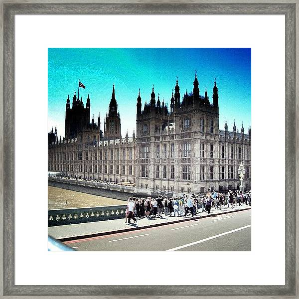 Westminster, London 2012 | #london Framed Print