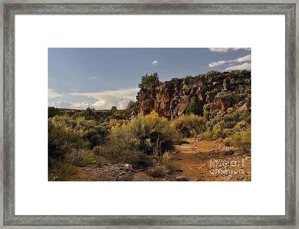Westward Across The Mesa Framed Print