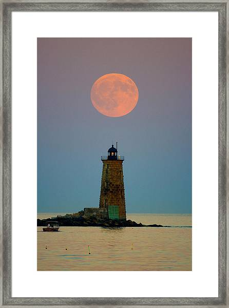 Whaleback Lighthouse Framed Print
