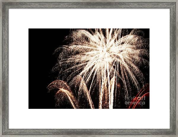 White Explosion Framed Print