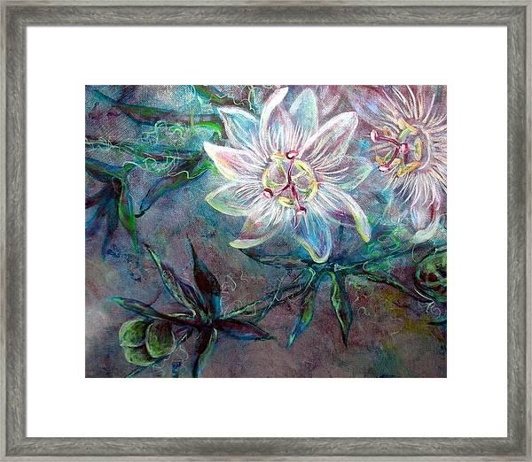White Passion Framed Print