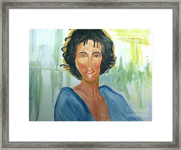 Whitney Huston Framed Print