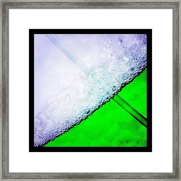 Wild Green Fiendy Liquid Framed Print