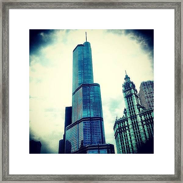 Willis Tower In #chicago Framed Print