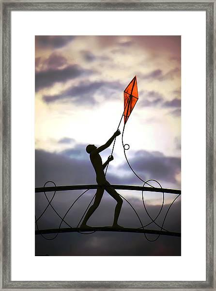 Winchester Kite Framed Print