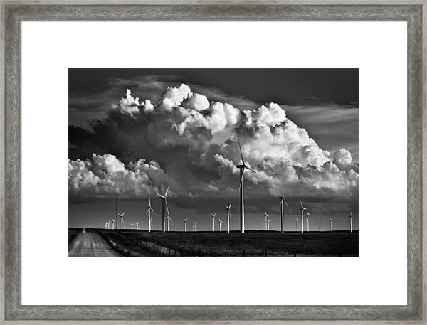 Wind Storm Framed Print