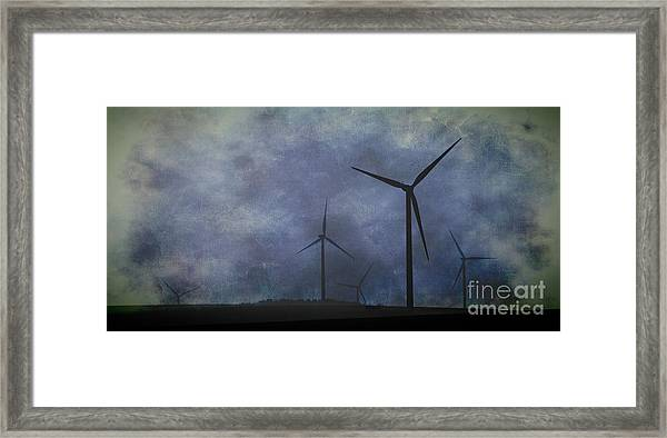 Windmills. Framed Print