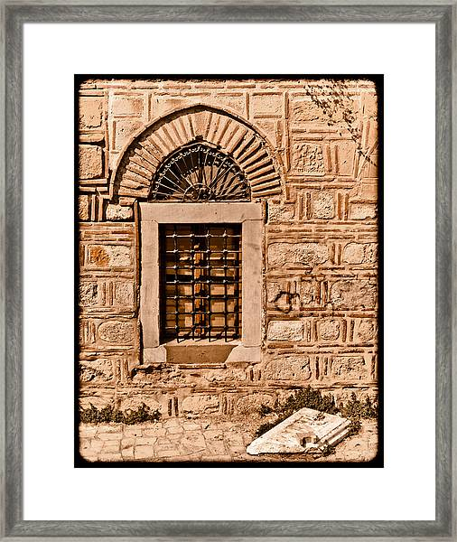Athens, Greece - Window Break Framed Print