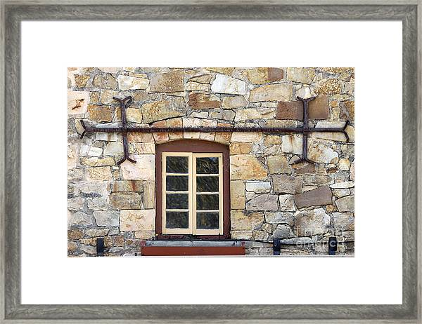 Window Into The Past Framed Print
