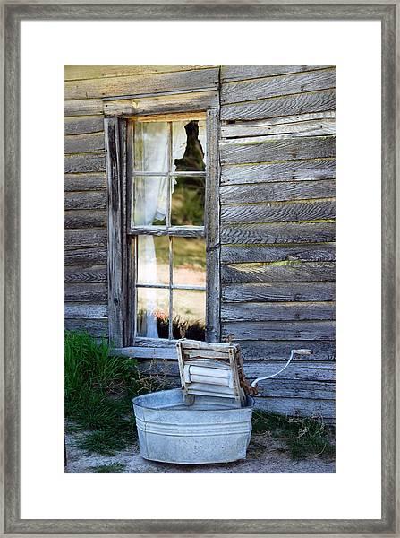 Window On Prairie Life Framed Print