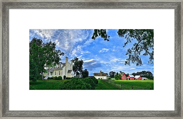 Framed Print featuring the photograph Windsor Castle Smithfield Va by Williams-Cairns Photography LLC