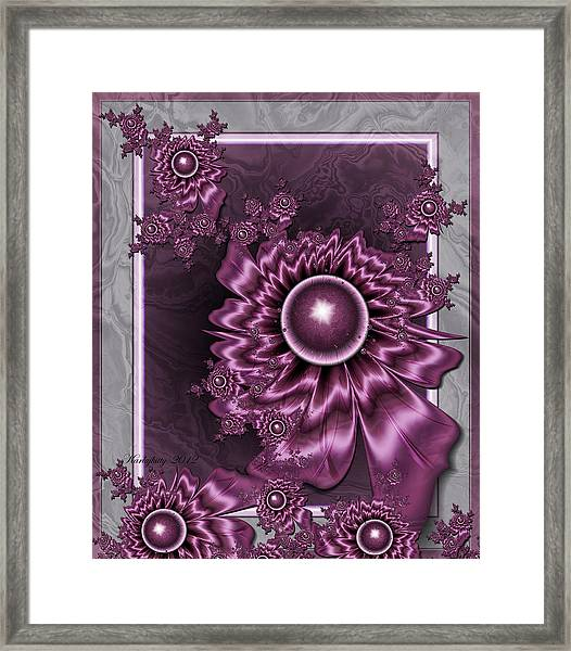 Wine Shimmer Framed Print