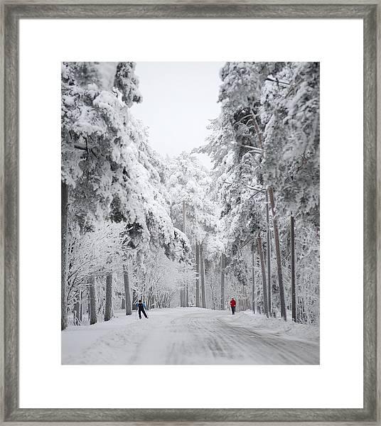 Winter Activities Framed Print