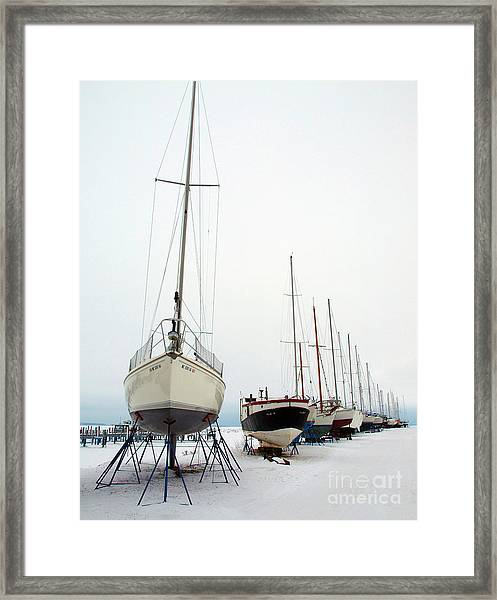 Winter Berth Framed Print
