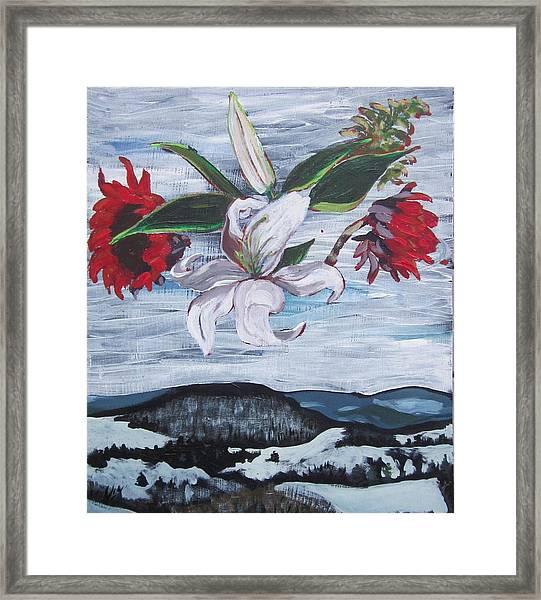Winter Flowers Framed Print