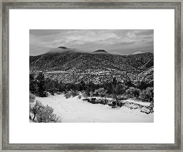 Winter Hills Framed Print
