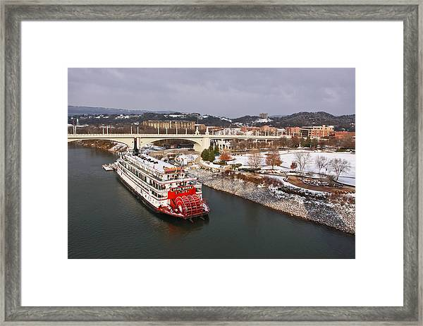 Winter In Coolidge Park Framed Print