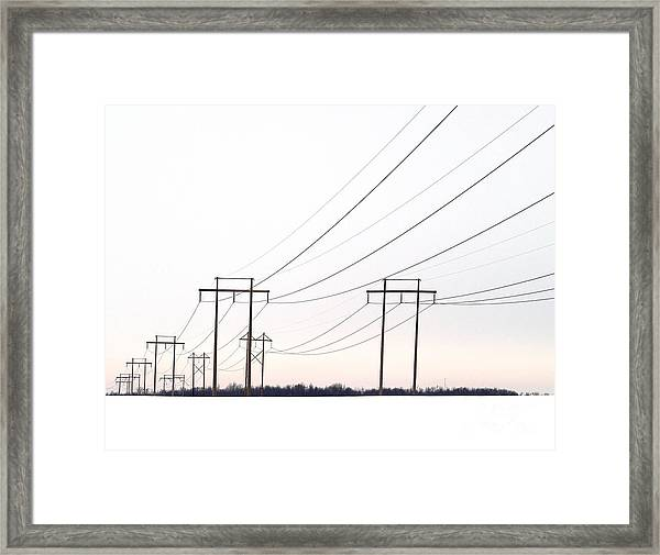 Winters Blush Framed Print