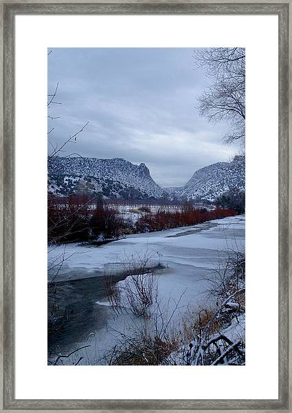 Winters Day Framed Print