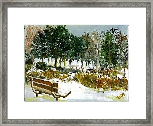 Winter's Invitation Framed Print