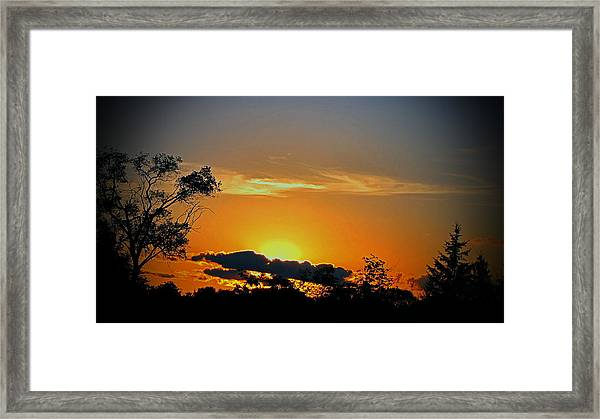 Wisconsin Sunset Framed Print