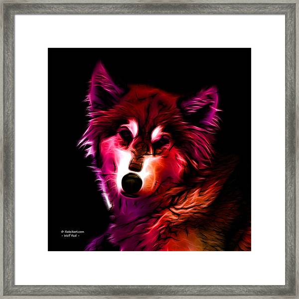 Wolf - Red Framed Print