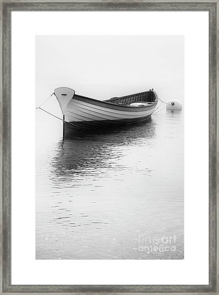 Wooden Row Framed Print