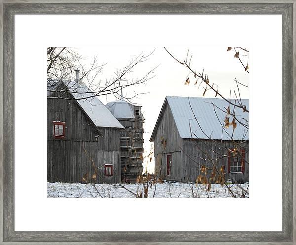 Wooden Silo Framed Print