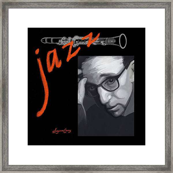 Woody Allen From Wild Man Blues Framed Print