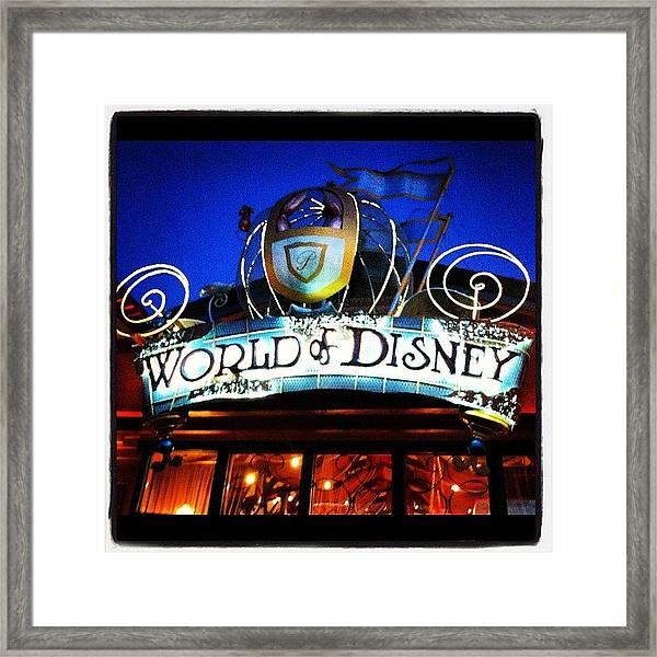 World Of Disney Framed Print