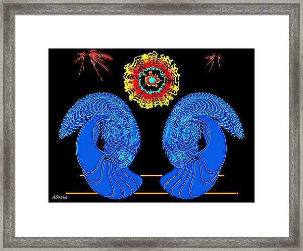 Worship Of The Dying Sun Framed Print