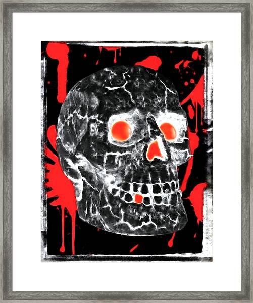 Written In Blood Framed Print