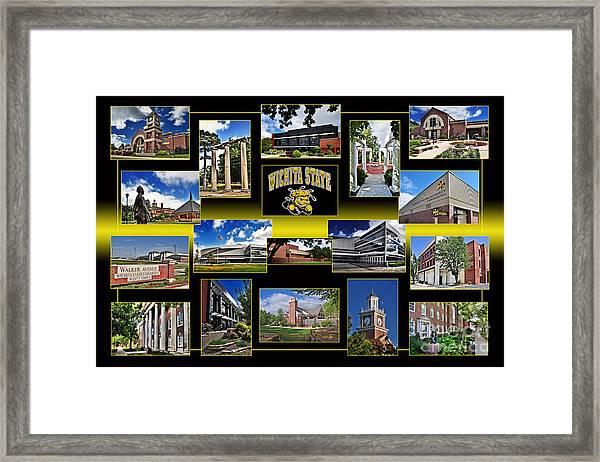 Wsu Collage Framed Print